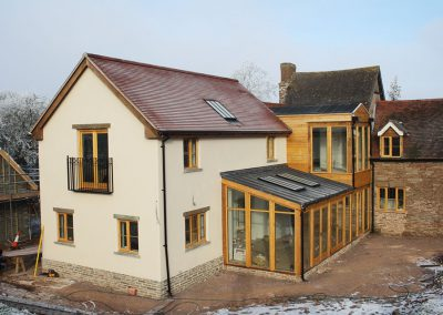 Two storey extension to a listed dwelling, Herefordshire